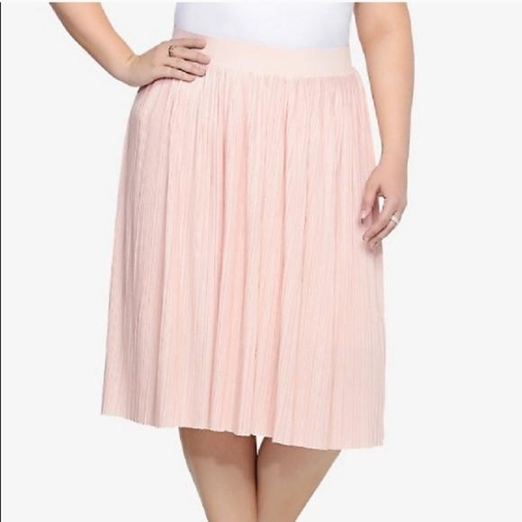 choose genuine top-rated noveldesign Light pink pleated midi skirt